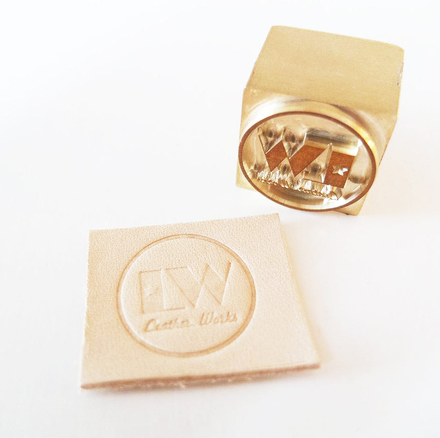 Leather embossing personalised initials corporate gifting