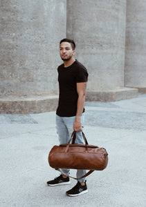 Duffel - Leather Travel Bag Travel CHAPEL Pecan