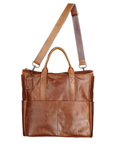 Baby Bag - Leather Handbag CHAPEL Pecan