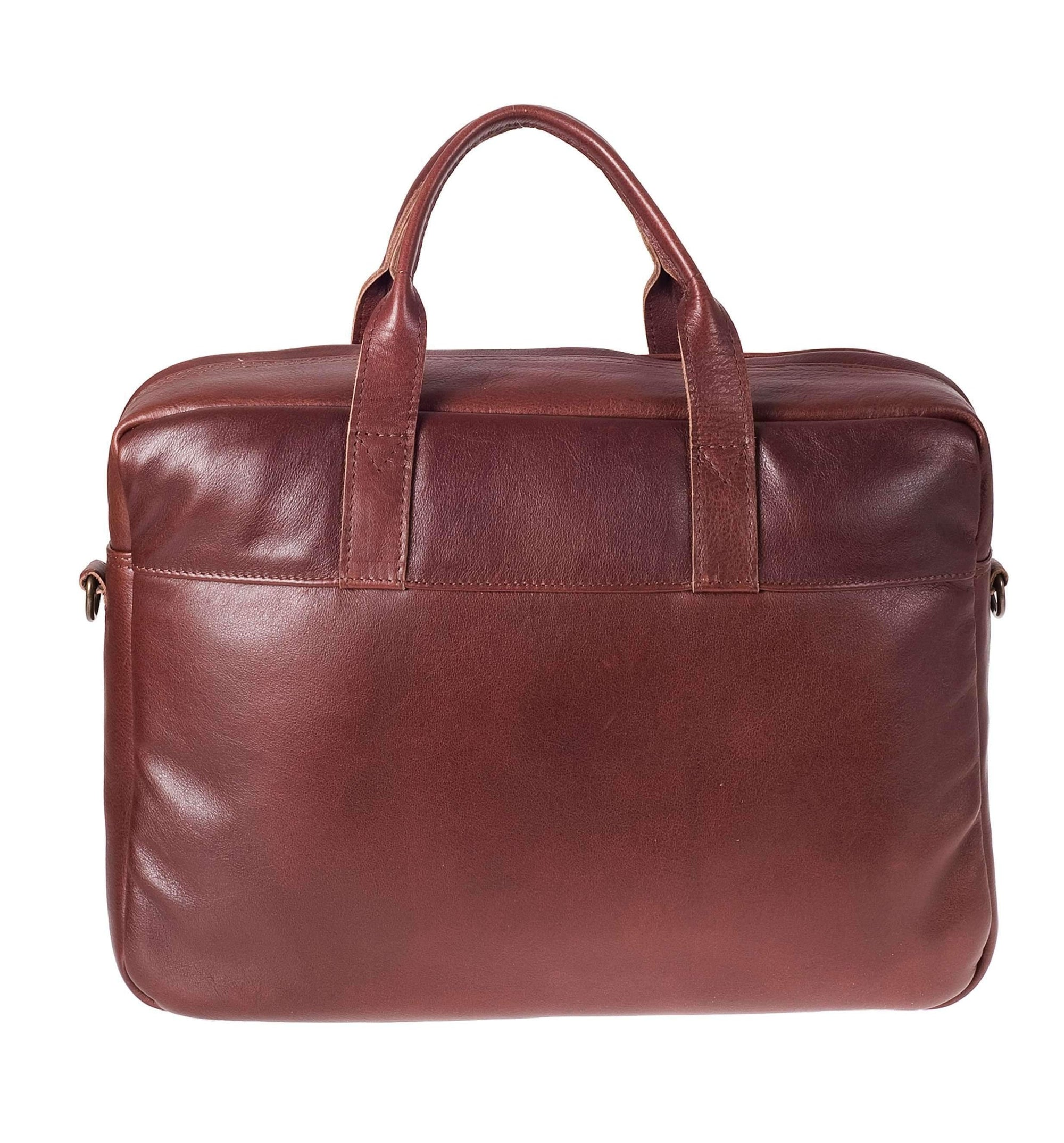8fcdfe7de9d6 Brief - 15inch Leather Laptop Bag Work CHAPEL Brandy