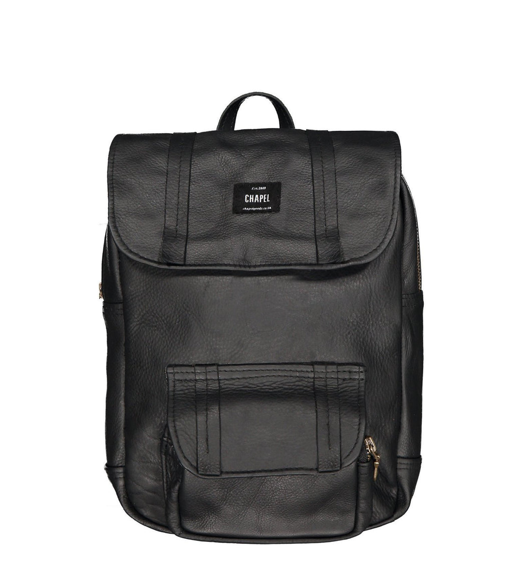 Mini Rider - Leather Backpack CHAPEL Black