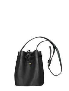 Mini Bucket - Leather Handbag Handbag CHAPEL Black