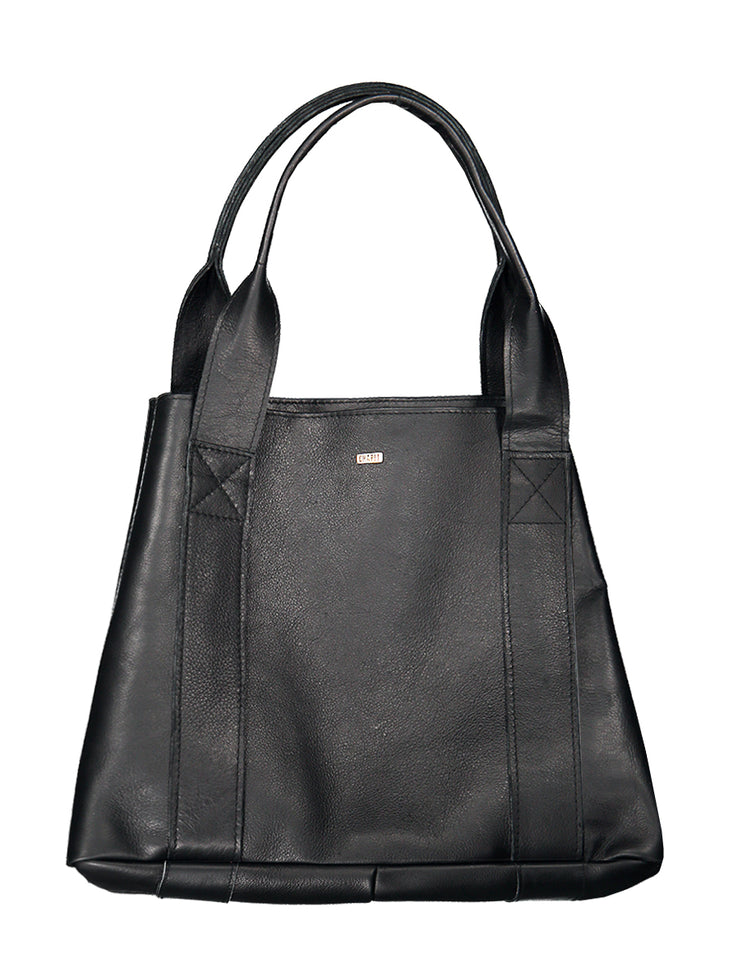 Francis - Leather Tote Handbag CHAPEL Black