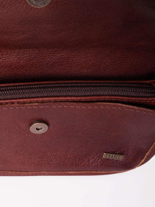 Piano Clutch - Leather Handbag Handbags CHAPEL Brandy