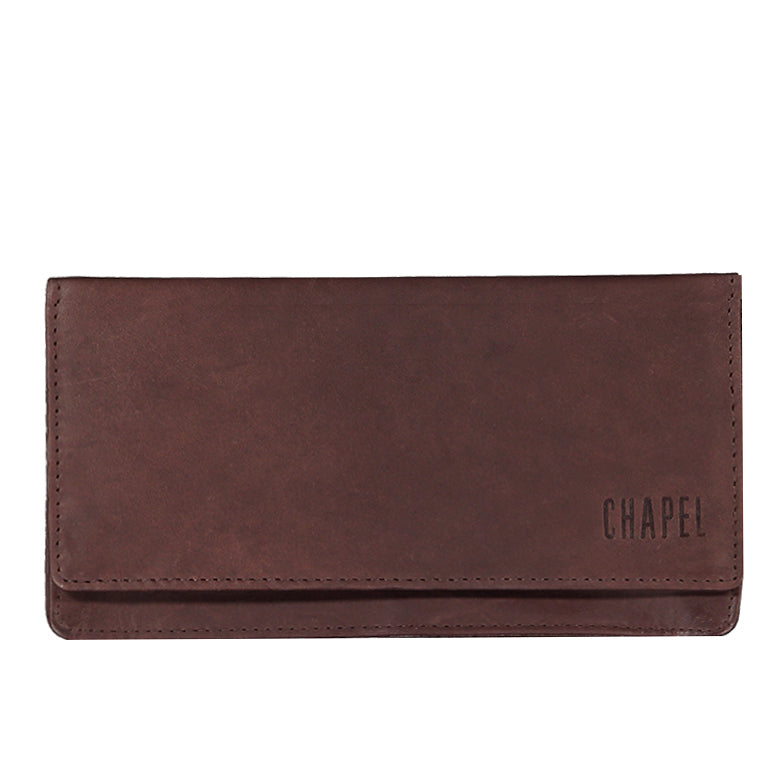 Ladies Leather Purse CHAPEL Choc