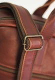 Dual Brief - 15inch Leather Laptop Bag Work CHAPEL Brandy