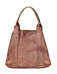 Francis - Leather Tote Handbag CHAPEL Pecan