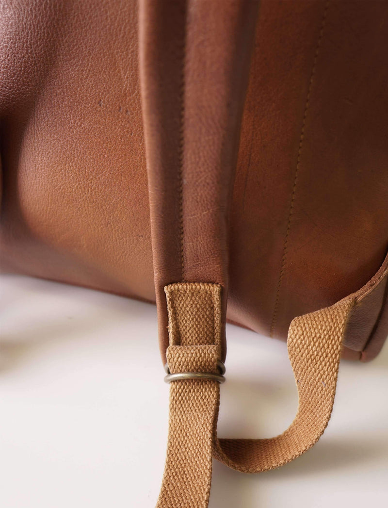 Scout - 15inch Leather Backpack Backpack CHAPEL Pecan