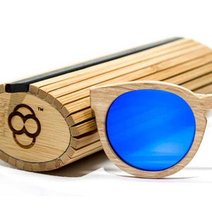 Wood Bamboo Case and Wooden Bamboo Sunglasses by Maybe Sunny