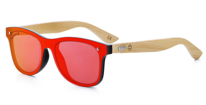 Wayfarer Bamboo Handle Sunglasses - La Concha