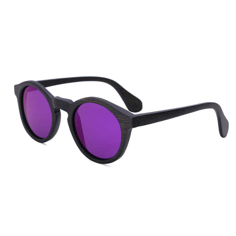 Round Sunglasses With Purple Lens - Punalu - Maybe Sunny