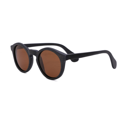 Round Sunglasses With Brown Lens - Punalu - Maybe Sunny