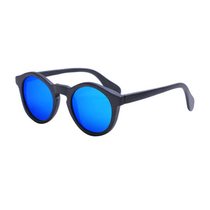 Round Sunglasses With Azure Mirror Lens - Punalu - Maybe Sunny