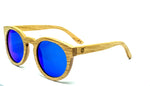 Round Sunglasses With Azure Mirror Lens - Ipanema - Maybe Sunny