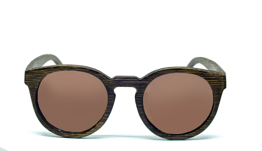 Round Sunglasses With Brown Lens - Navio - Maybe Sunny