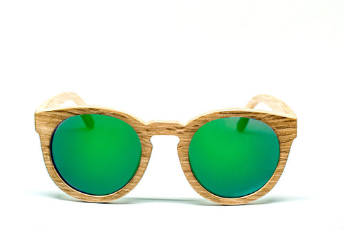 Round Sunglasses With Green Mirror Lens - Ipanema - Maybe Sunny