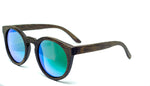 Round Sunglasses With Green Mirror Lens - Navio - Maybe Sunny