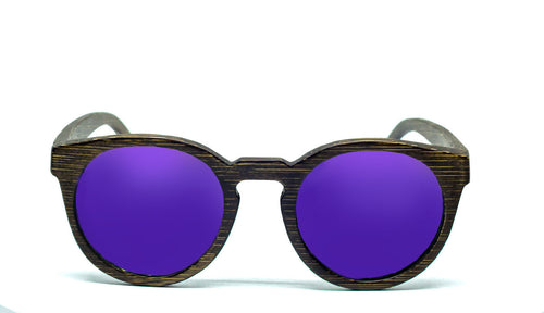 Round Sunglasses With Purple Lens - Navio - Maybe Sunny