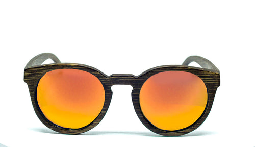 Round Sunglasses With Flame Mirror Lens - Navio - Maybe Sunny
