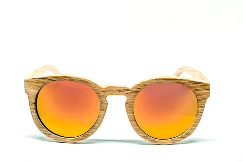 Round Sunglasses With Flame Mirror Lens - Ipanema - Maybe Sunny