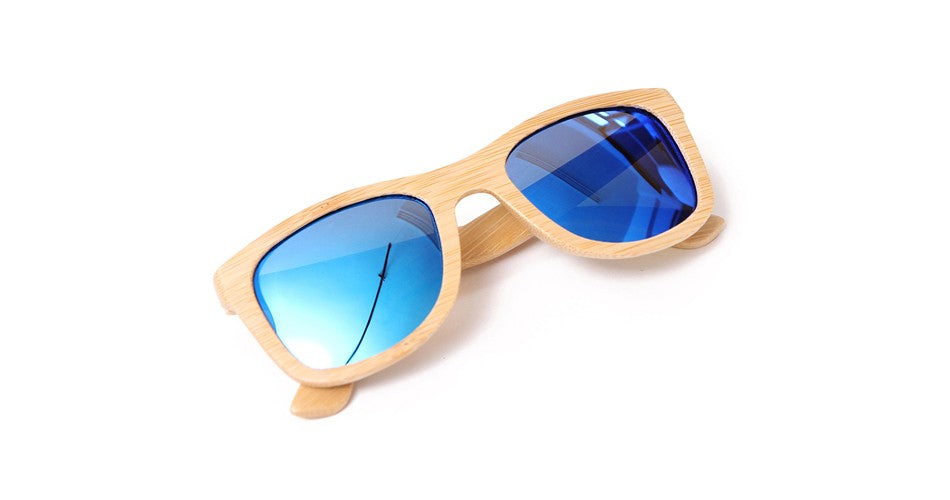 Wayfarer Sunglasses With Azure Mirror Lens - Ehukai - Maybe Sunny