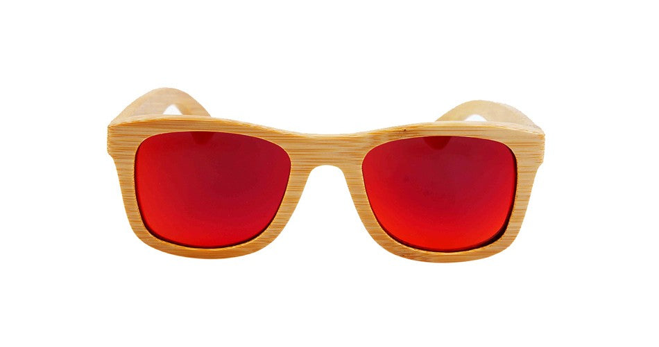 Wayfarer Sunglasses With Flame Mirror Lens - Ehukai - Maybe Sunny