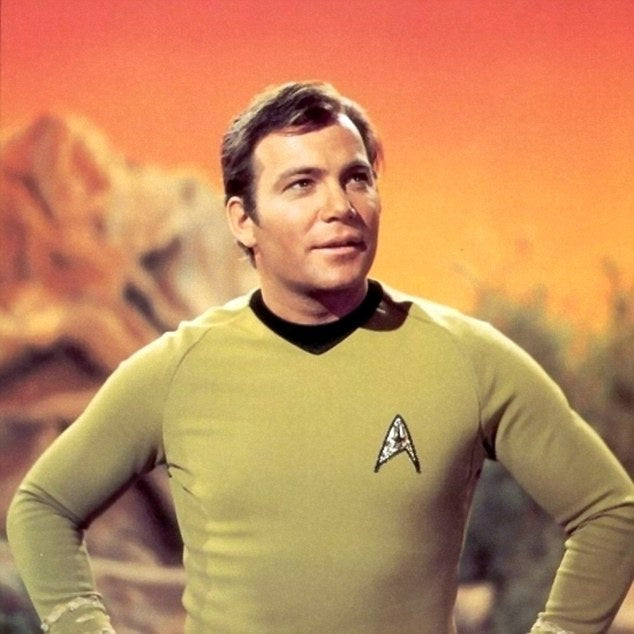 Image result for william shatner in star trek