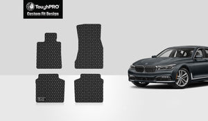 BMW 740i 2016 Floor Mats Set Rear Wheel Drive