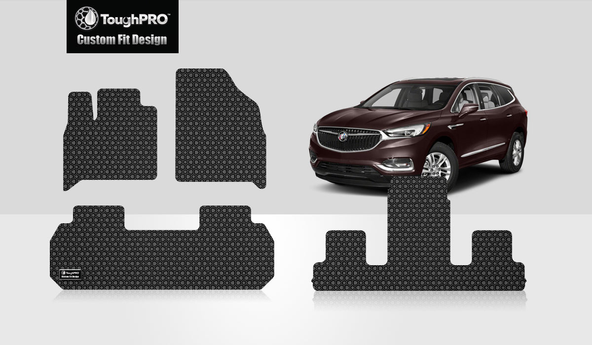 BUICK Enclave 2019 1st Row & 2nd Row & 3rd Row Mats For Bucket Seating