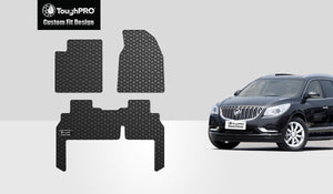 BUICK Enclave 2014 1st & 2nd Mats for Bench Seating