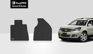 CHEVROLET Traverse 2013 Two Front Mats 2nd Row  Bench SEATING