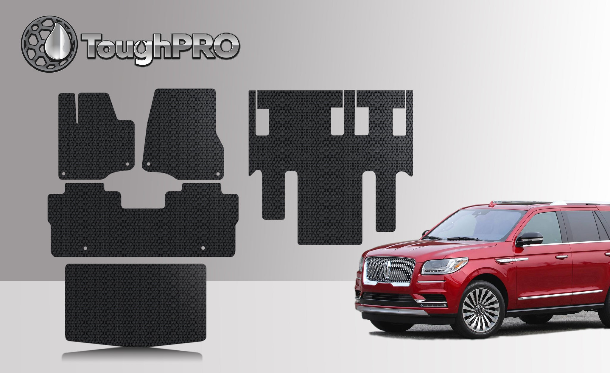 LINCOLN Navigator L (Bucket No Console) 2021 Front Row 2nd Row 3rd Row Trunk Mat