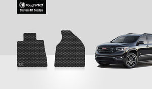 GMC Acadia 2014 Two Front Mats 2nd Row  BUCKET SEATING