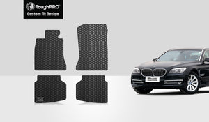 BMW 750Li 2014 Floor Mats Set Rear Wheel Drive