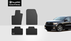 DODGE Durango 2012 Floor Mats Set Third row (Bench seat models only)