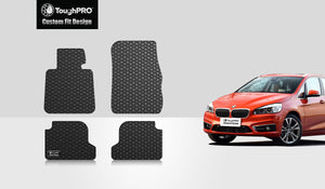 BMW M240i 2019 Floor Mats Set Rear Wheel Drive & Coupe Model