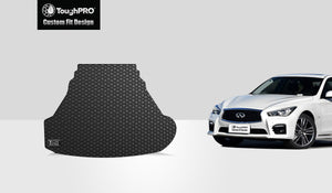 INFINITI Q50 2014 Trunk Mat (3.0t model's engine  With Spare Tire  No Hybrid)