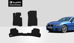 BMW 435i 2014 Floor Mats Set Rear Wheel Drive & Coupe Model