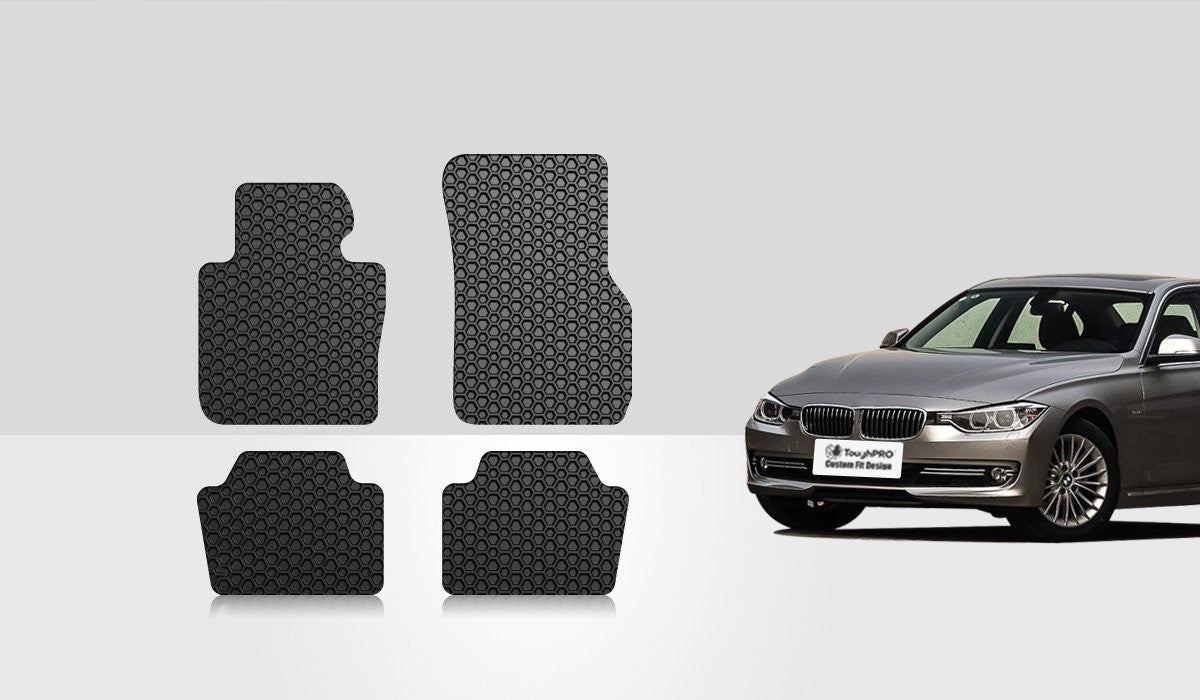 BMW 320i 2014 Floor Mats Set Rear Wheel Drive & Sedan Model