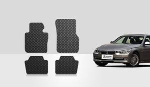 BMW 328D 2015 Floor Mats Set Rear Wheel Drive & Sedan Model