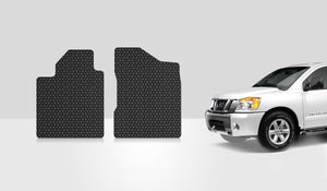 NISSAN Titan 2008 Two Front Mats Crew Cab