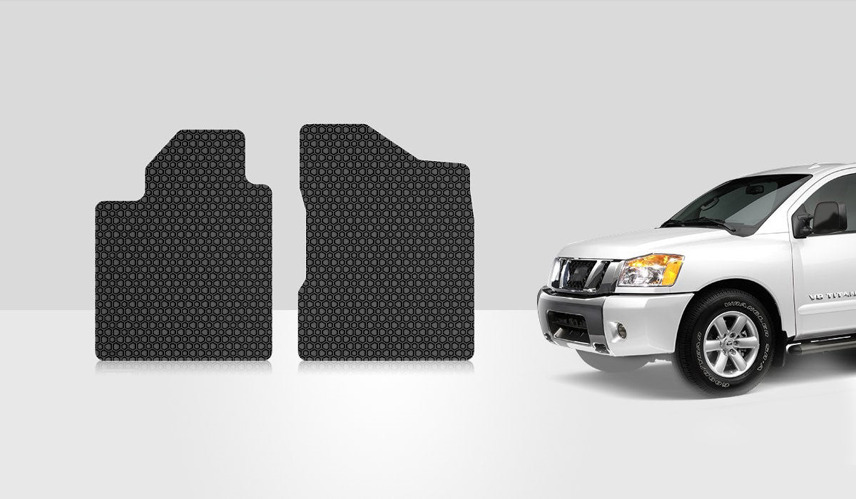 NISSAN Titan 2010 Two Front Mats Crew Cab