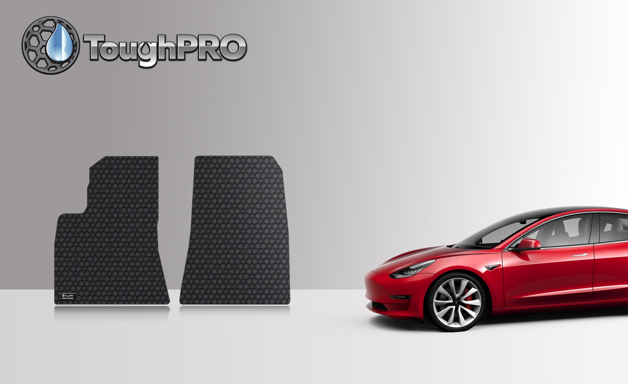TESLA Model 3 March 2019 to August 2019 Two Front Mats