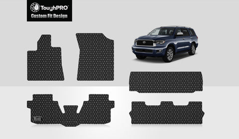 TOYOTA Sequoia 2013 Front Row  2nd Row  3rd Row  Trunk Mat( 3rd Row Up)