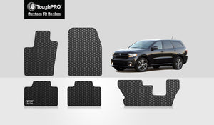 DODGE Durango 2012 Front Row  2nd Row  3rd Row Third row (Bench seat models only)