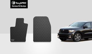 DODGE Durango 2014 Two Front Mats (Third row Bench seat models only)