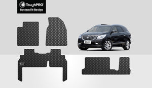 BUICK Enclave 2012 1st & 2nd & 3rd Row Mats For Bench Seating