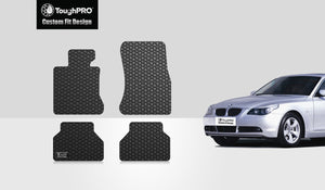 BMW 550i 2006 Floor Mats Set Rear Wheel Drive