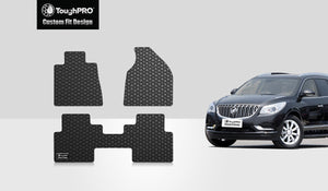 BUICK Enclave 2009 1st & 2nd Row Mats For Bucket Seating