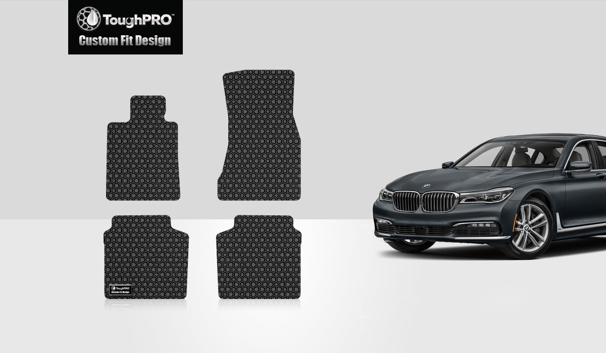 BMW 740i xDrive 2017 Floor Mats Set Rear Wheel Drive